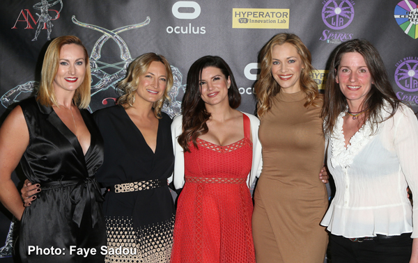 Vanessa Cater, Zoe Bell, Gina Carano, Kristanna Loken and Melanie Wise on the Artemis Red Carpet