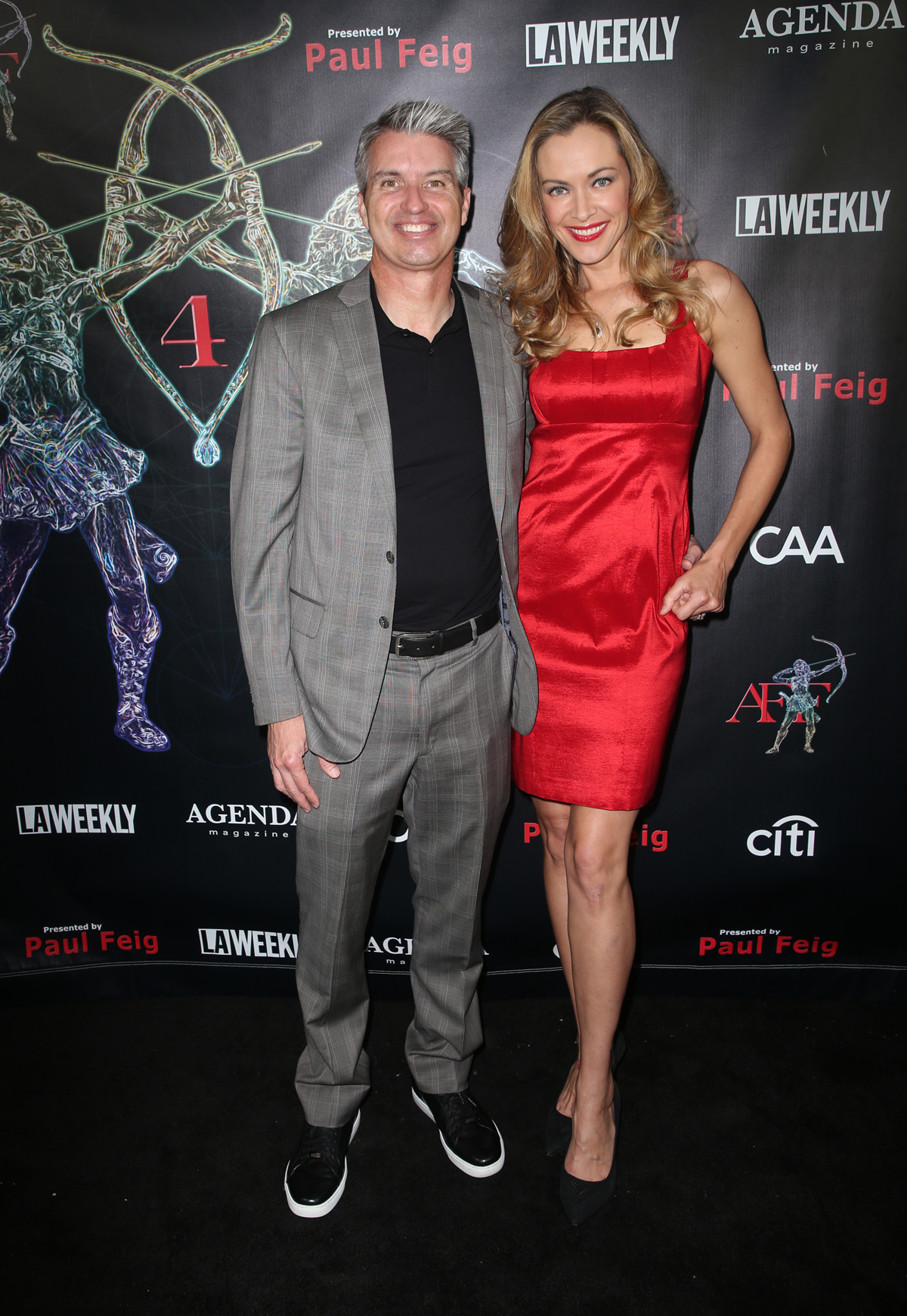 BEVERLY HILLS, CA - APRIL 26: Kristanna Loken, Jonathan Bates, at the 2018 Artemis Awards Gala at the Ahrya Fine Arts Theater in Beverly Hills, California on April 26, 2018. Credit: Faye Sadou/MediaPunch