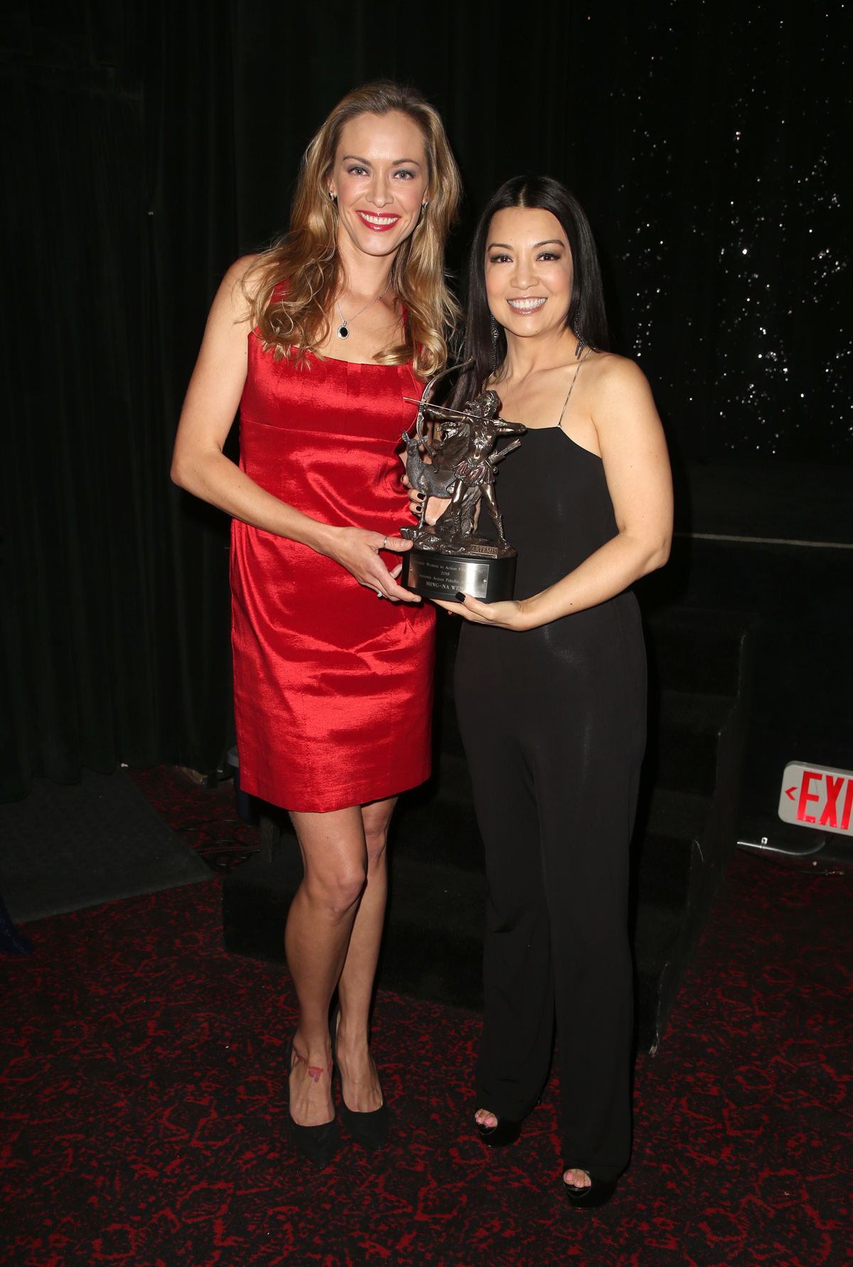 BEVERLY HILLS, CA - APRIL 26: Kristanna Loken, Ming-Na Wen, at the 2018 Artemis Awards Gala at the Ahrya Fine Arts Theater in Beverly Hills, California on April 26, 2018. Credit: Faye Sadou/MediaPunch