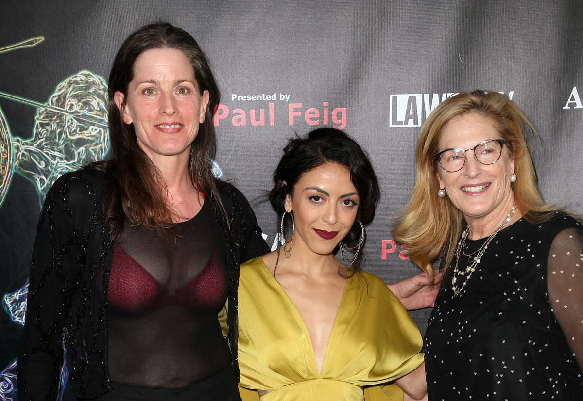 BEVERLY HILLS, CA - APRIL 26: Melanie Wise, Grace Parra, Laurie Feig, at the 2018 Artemis Awards Gala at the Ahrya Fine Arts Theater in Beverly Hills, California on April 26, 2018. Credit: Faye Sadou/MediaPunch