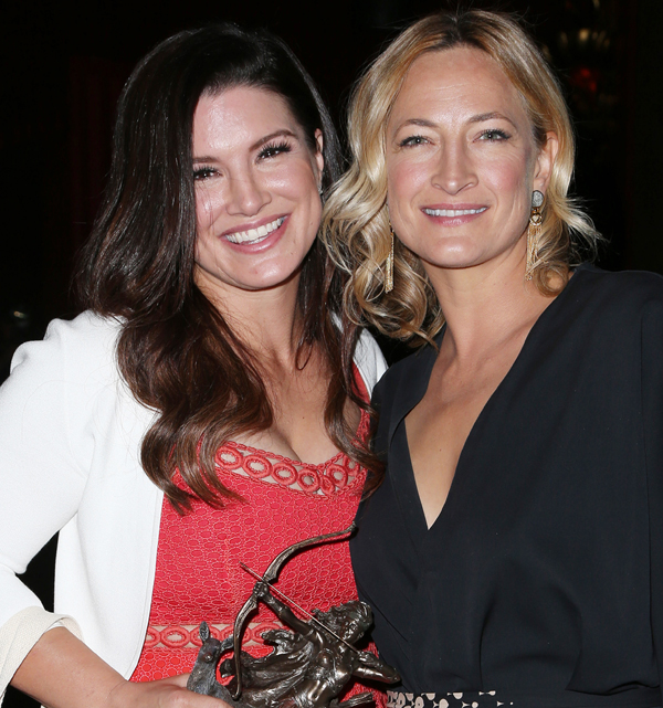 Gina Carano and Zoe Bell at Artemis Film Festival