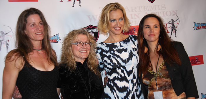 Melanie Wise and Kristanna Loken on the Artemis Red Carpet
