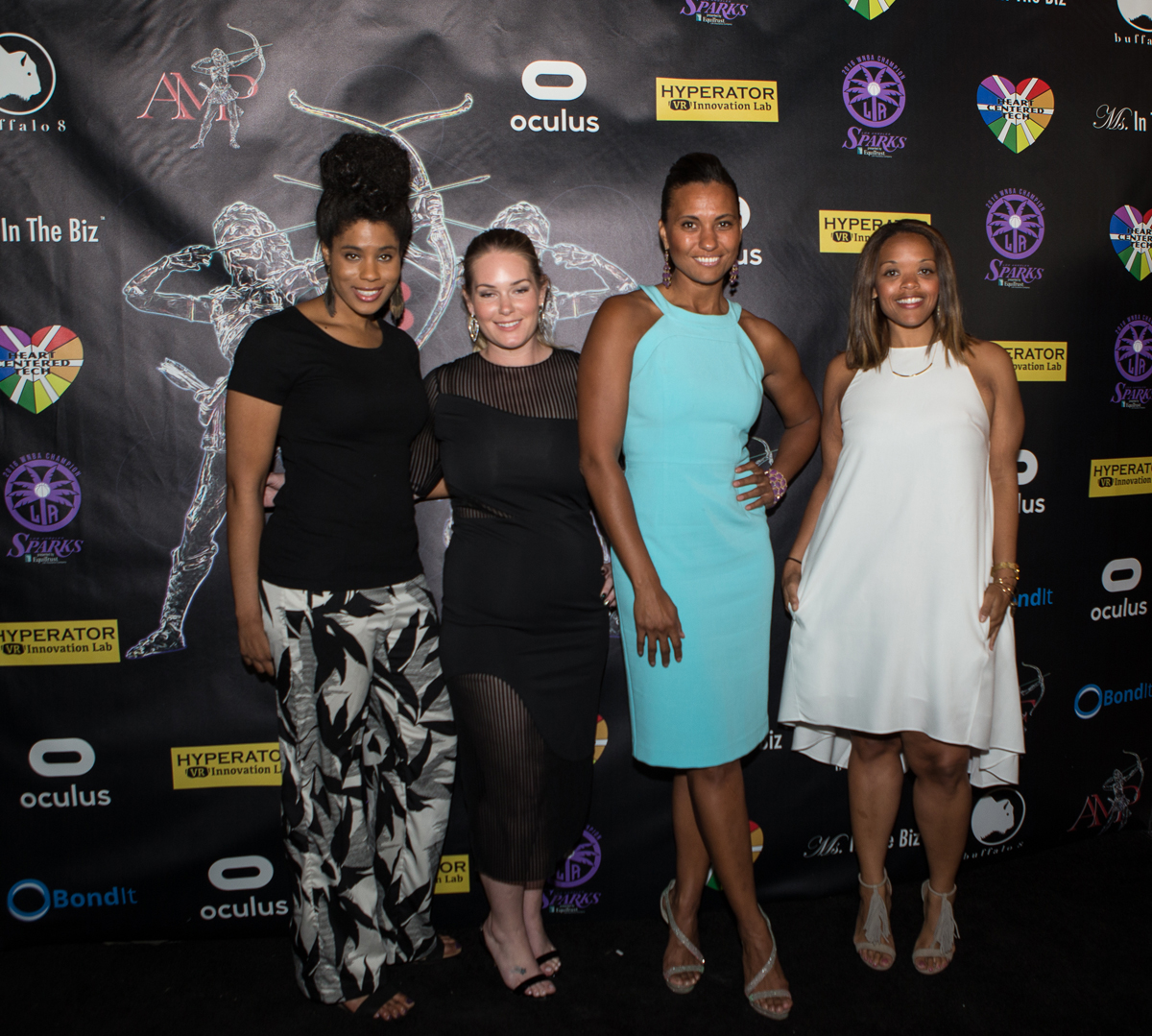 LA Sparks Nellie Winfield, Cay Young, Christine Simmons, Danita Johnson