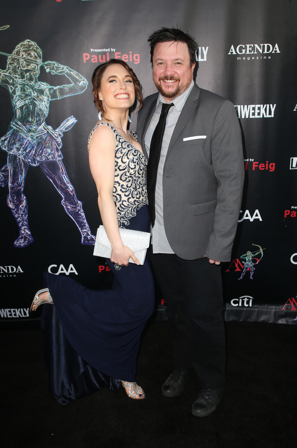BEVERLY HILLS, CA - APRIL 26: Cassandra Ebner, Trevor Addie, at the 2018 Artemis Awards Gala at the Ahrya Fine Arts Theater in Beverly Hills, California on April 26, 2018. Credit: Faye Sadou/MediaPunch