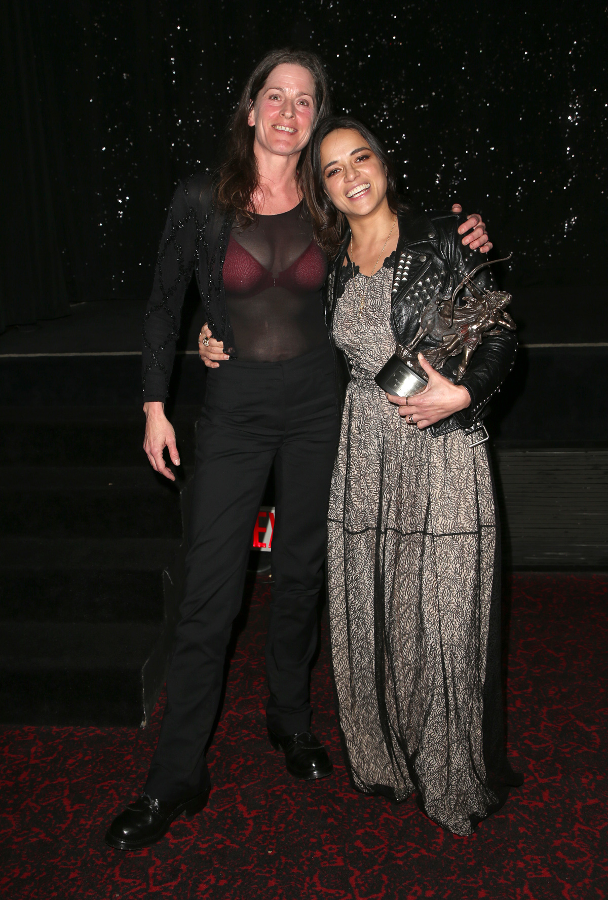 BEVERLY HILLS, CA - APRIL 26: Melanie Wise, Michelle Rodriguez, at the 2018 Artemis Awards Gala at the Ahrya Fine Arts Theater in Beverly Hills, California on April 26, 2018. Credit: Faye Sadou/MediaPunch