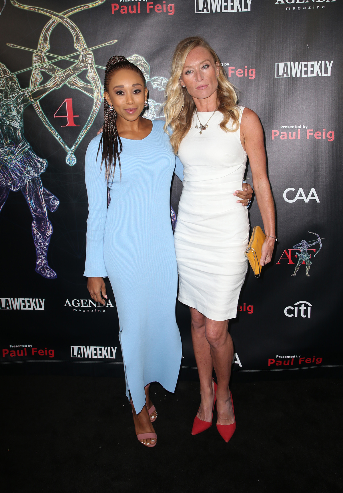 BEVERLY HILLS, CA - APRIL 26: Zee James, Victoria Smurfit, at the 2018 Artemis Awards Gala at the Ahrya Fine Arts Theater in Beverly Hills, California on April 2